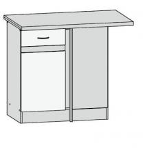 DNW/100/82 P- spodní rohová skříňka kuchyň Junona