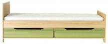 Postel CODI CD/15 + šuplíky CODI CD/16 višeň cornvall/zelená duha