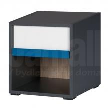 Noční stolek grafit/bílý IKAR 51