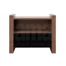 Noční stolek ořech/černý VENOM KOM1S
