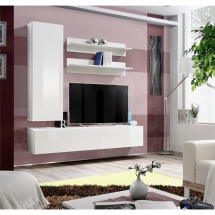 Obývací stěna bílá FLY H