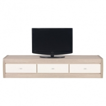 Televizní stolek AXEL AX/1 thuje, dub latte/lesk jasmín