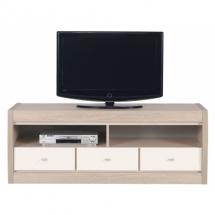 Televizní stolek AXEL AX/2 thuje, dub latte/lesk jasmín