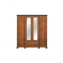 Skříň se zrcadlem čtyřdvéřová višeň NATALIA SZF190