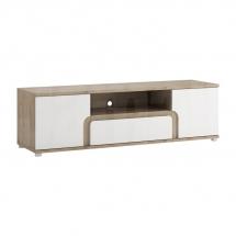 Televizní stolek bílý lesk/dub nelson MILANO TYP 50
