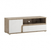 Televizní stolek bílý lesk/dub nelson MILANO TYP 51